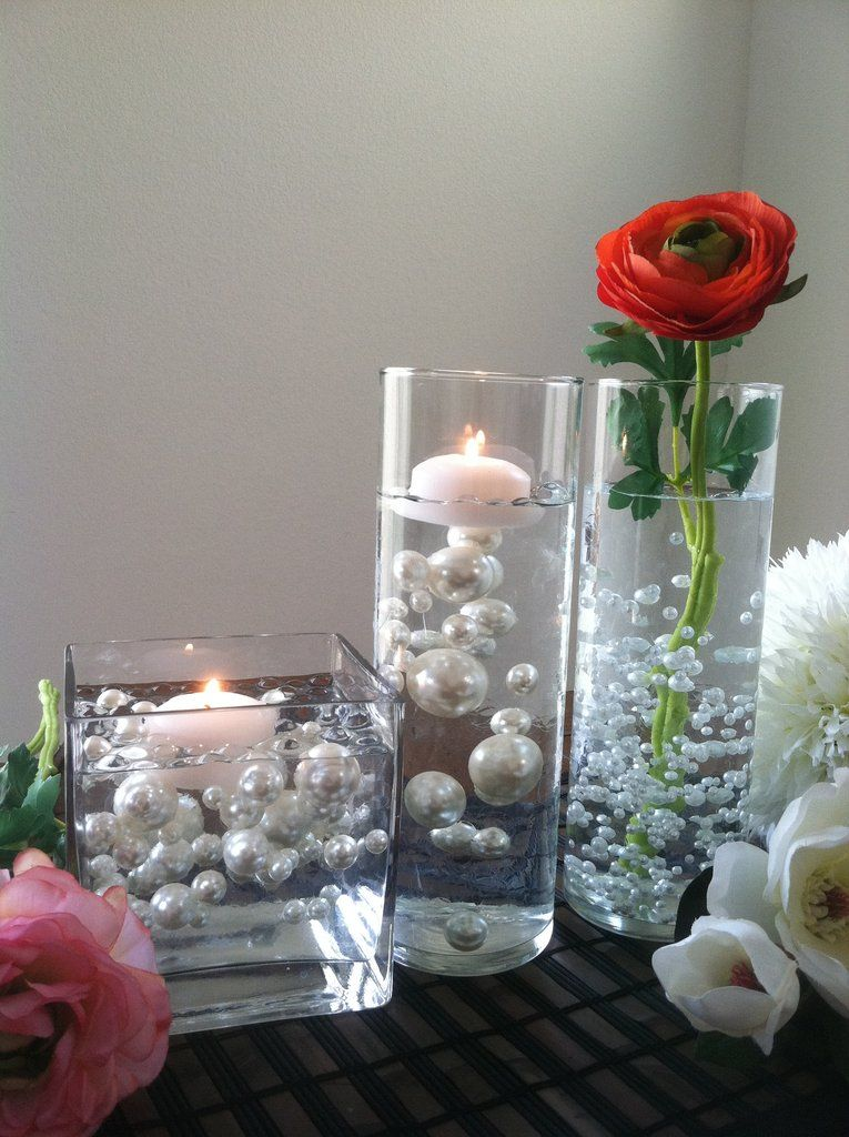 80pc Pearls For Floating Pearl Centerpieces Available In 30