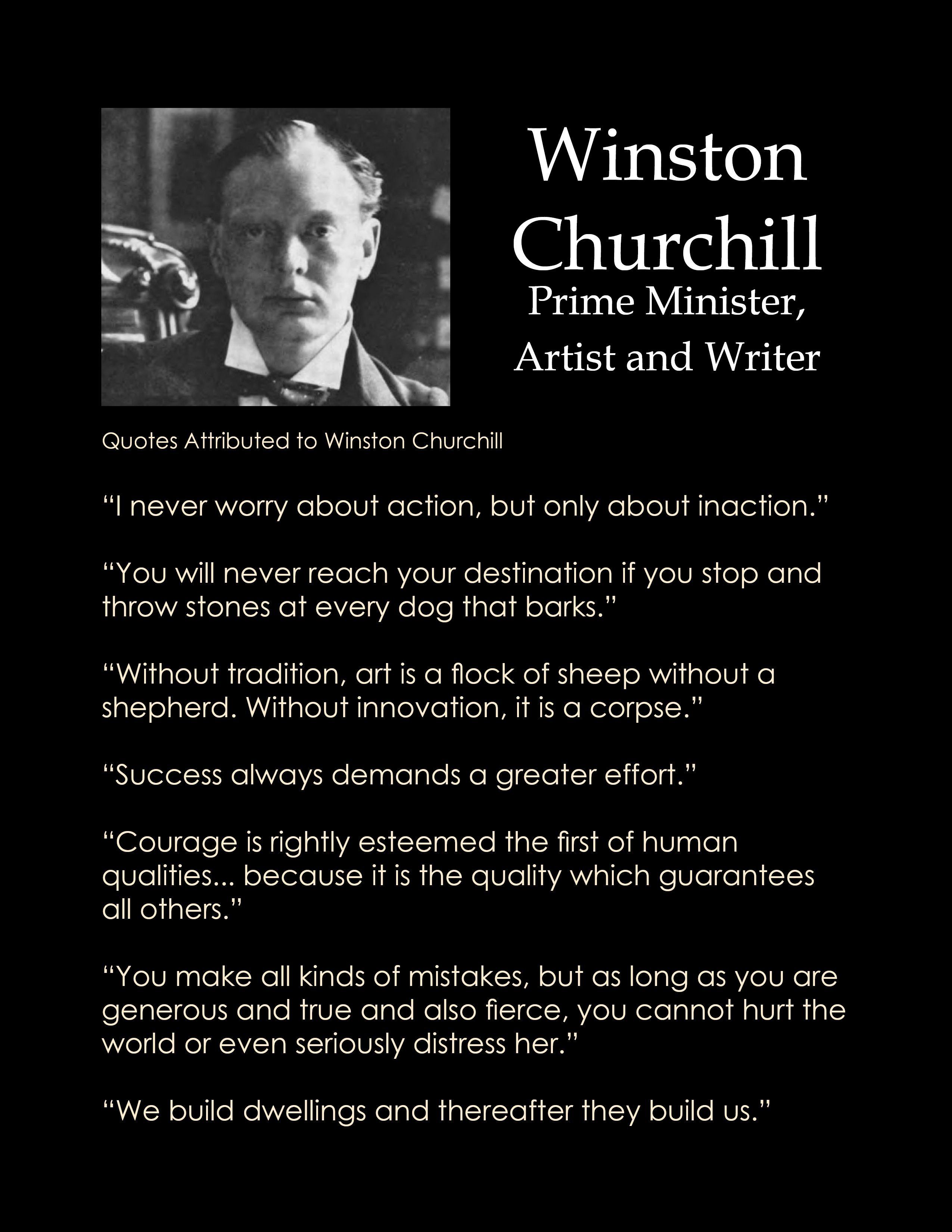 Quick Question on Winston Churchill's