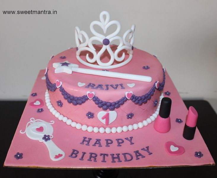 Disney Princess theme small customized designer fondant birthday