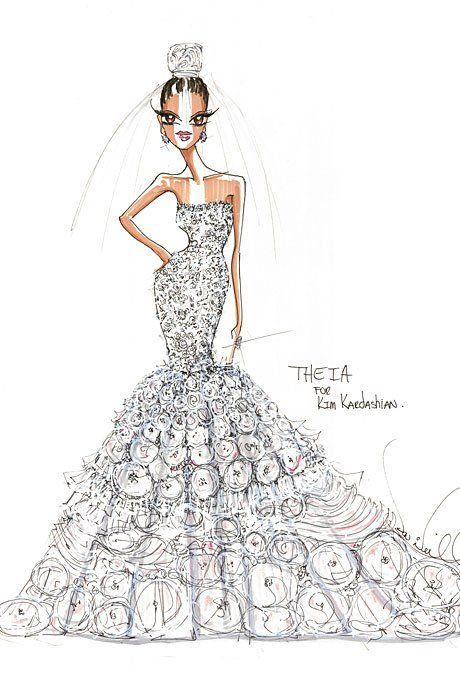 kim-kardashian-wedding-dress-theia-sketch.jpg (460×680)