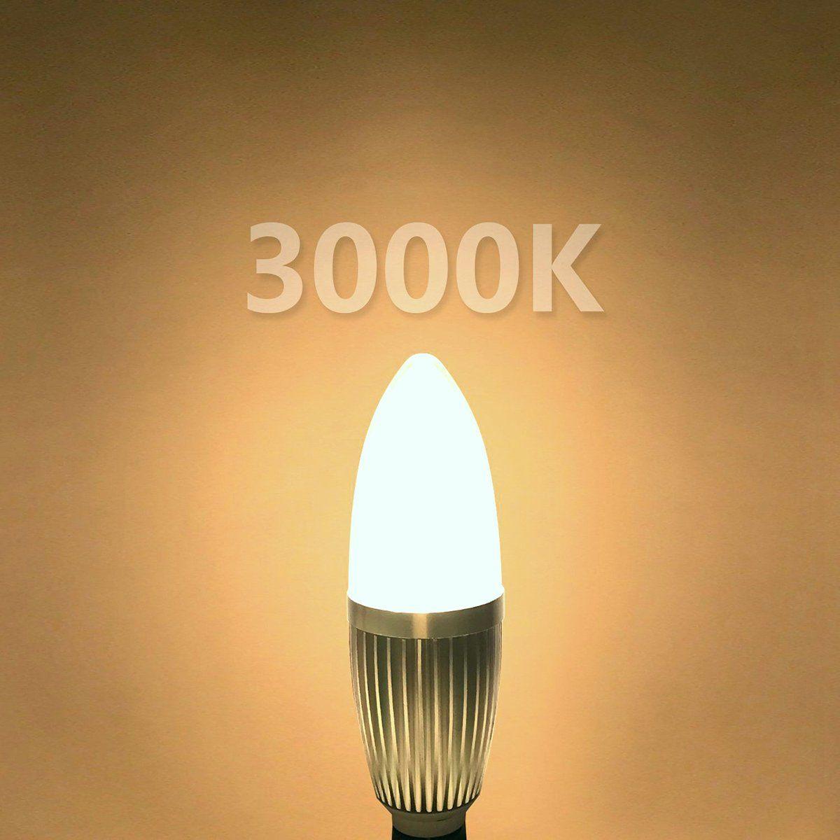 3 Pcs Pack E12 Led Candelabra Bulb 12w Led Candle Light Bulbs 100 Watt Light Bulbs Equivalent1200 Lumens N Light Bulb Candle Led Candelabra Bulbs Dimmable Lamp