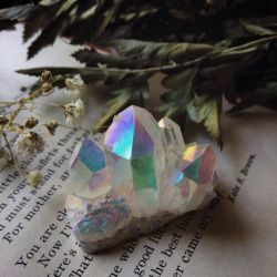 gelinapit:  shoptheopaque:  Lots of new angel aura quartz for the update coming in July ^.^ love and light everyone!