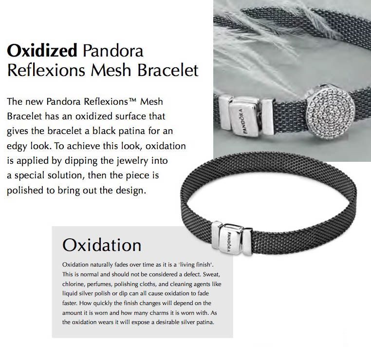 charms for pandora reflexions mesh bracelet