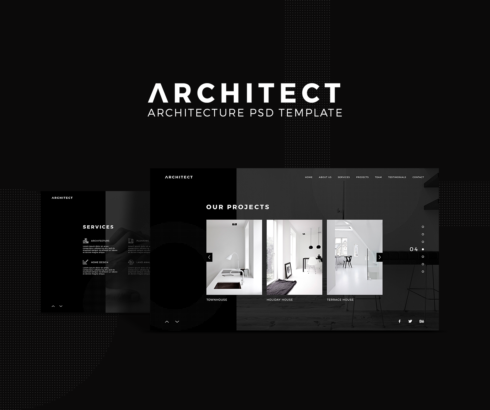 Check out this @Behance project: \\u201cArchitect - Architecture PSD ...