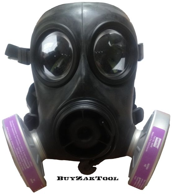 bzt9 military gas mask filter nbc style north 40he nato 40mm with ...