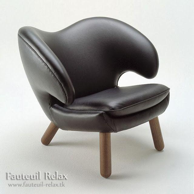 fauteuil scandinave plécan en cuir Fauteuil relax