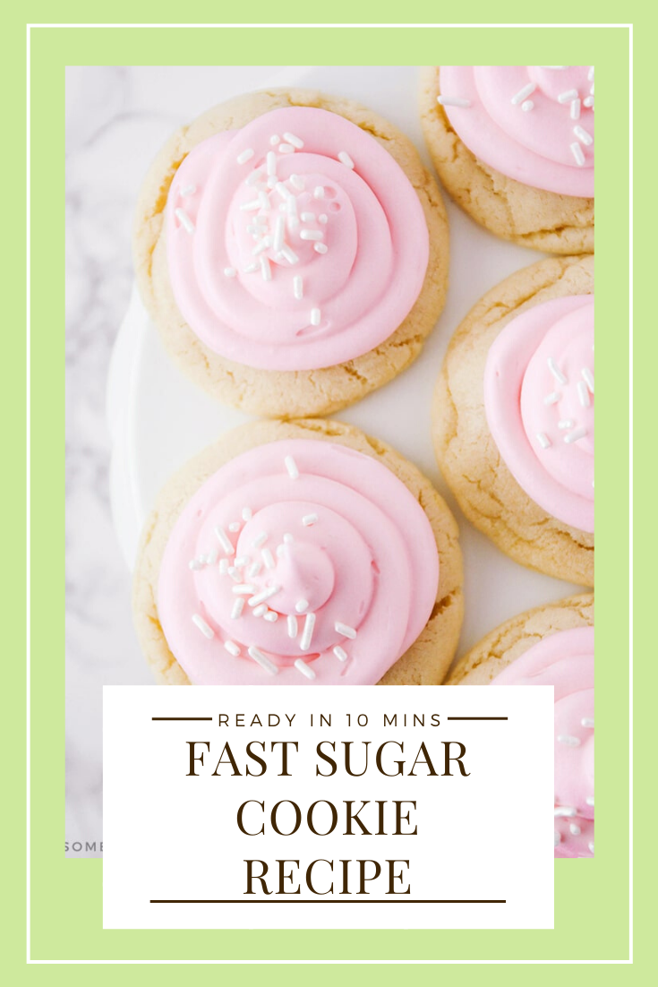 These easysugar cookies are a favorite in our home! A no-chill recipe made with simple ingredients that comes together quickly! They're so easy, they only take 10 minutes from start to finish.  #sugarcookiesfrosting #easysugarcookierecipe #10minutesugarcookies #bestsugarcookierecipe #nochillsugarcookies
