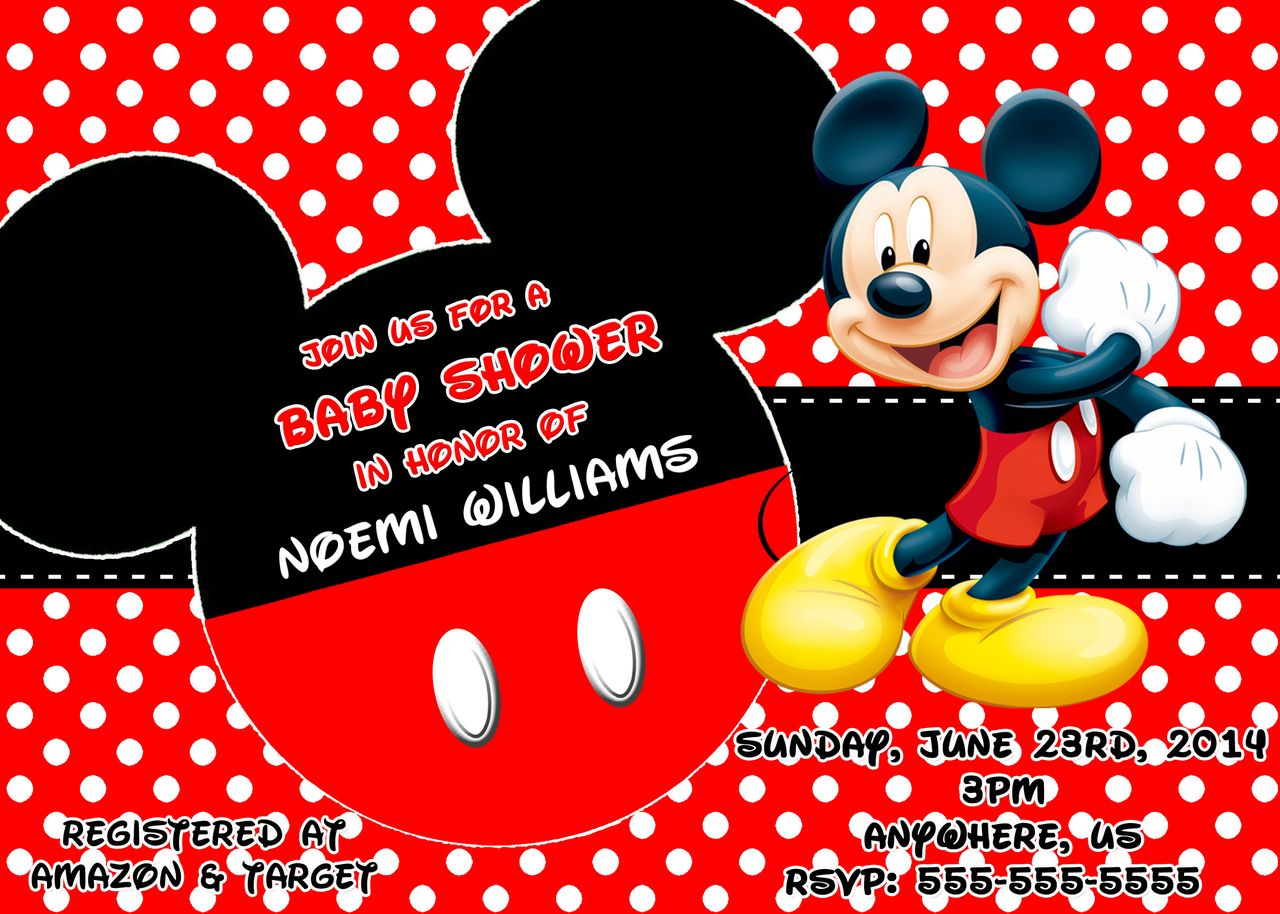Mickey Mouse Theme Baby Shower Ideas | Baby Shower Invitation Ideas ...