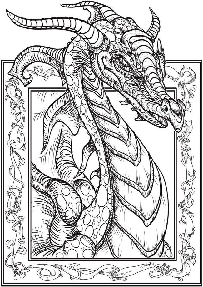 Dragon Adult Coloring Books Coloringpagestoprint With Images Dragon Coloring Page Fairy Coloring Pages Adult Coloring Book Pages