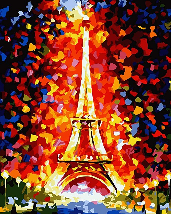 16 x 20 inch Bestevery DIY Oil Painting Paint by Number Kit Home Wall Art No Frame Canvas Painting Decoration DIY Oil Painting for Adults Beginner
