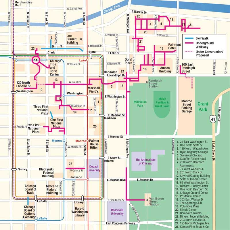 Mark Spiegl's Chicago Pedway Map - or, the best way to get ... on oklahoma city hotel map, colorado springs airport hotel map, chicago site seeing map, chicago holiday events 2014, jacksonville hotel map, downtown vancouver hotels map, chicago map downtown pdf, detailed downtown chicago map, chicago downtown apartments, chicago hotels magnificent mile map, river walk hotel map, augusta airport hotel map, chicago loop map, chicago hotel lobbies, san jose hotel map, santa monica hotel map, chicago attractions, sofitel chicago water tower map, chicago sightseeing map, chicago downtown restaurants,