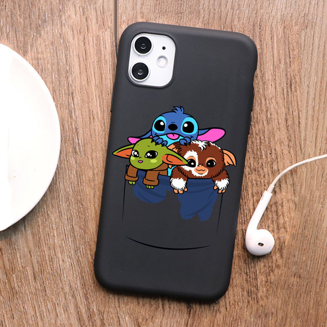 Soft Case color Cute Baby Yoda Meme Phone Case For iPhone