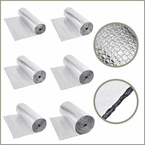 Isolation phonique/thermique Feuille aluminium/bulles double
