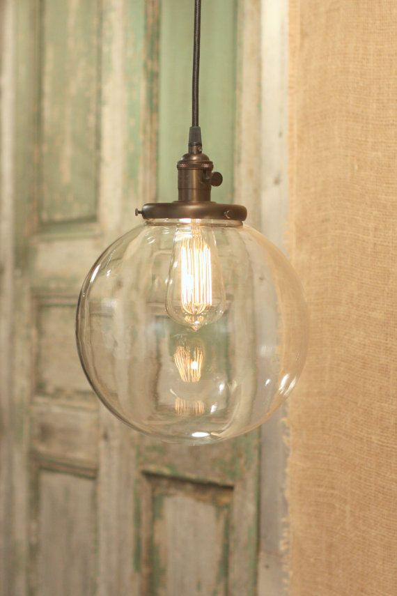 Clear Glass Globe Lighting 10 Inch In 2020 Glass Pendant Light