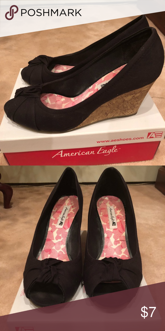 3e800bd87d45 Black wedges Black wedges American Eagle By Payless Shoes Wedges ...
