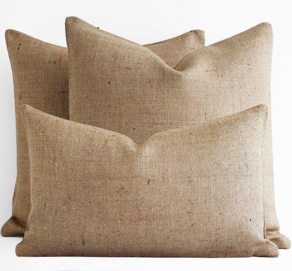 Magnificent Burlap Pillow Cover Custom 12X16 18X18 20X20 24X24 22 Burlap Download Free Architecture Designs Grimeyleaguecom