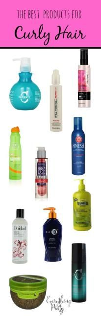 Best Curly Hair Styling Products Best Curly Hair Products For Frizz Free Hair  Pinterest  Frizz