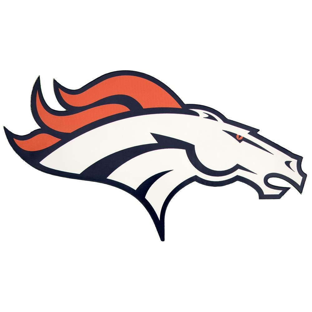 6db2340e Applied Icon NFL Denver Broncos Outdoor Logo Graphic- Small NFOP1001 ...
