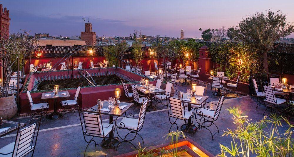 Restaurant In Marrakech Moroccan Cooking Le Foundouk Best Rooftop Bars Marrakech Rooftop Restaurant