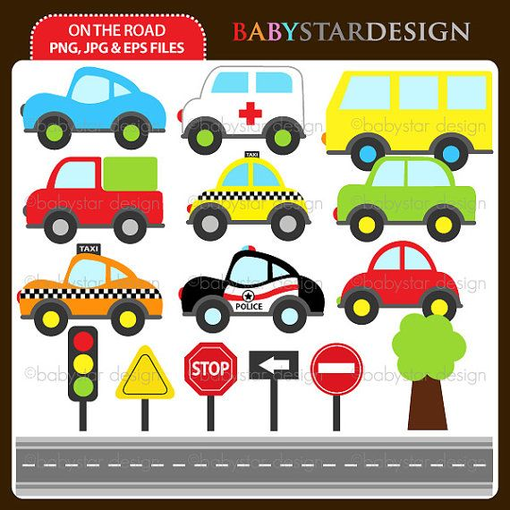 On The Road Clipart by babystardesign on Etsy, $5.95