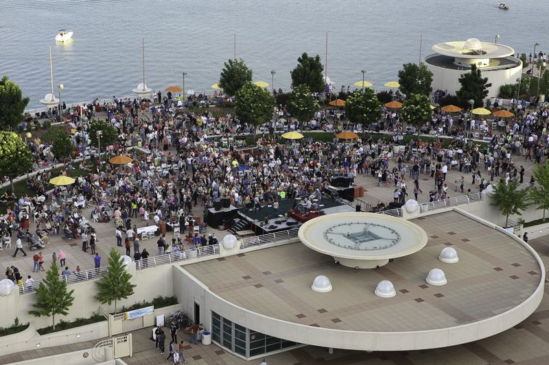 A Bird S Eye View Of Concerts On The Rooftop So Glad That So Many People Could Make It To The Kickoff Photo Credit Todd With Images Monona Terrace Birds Eye