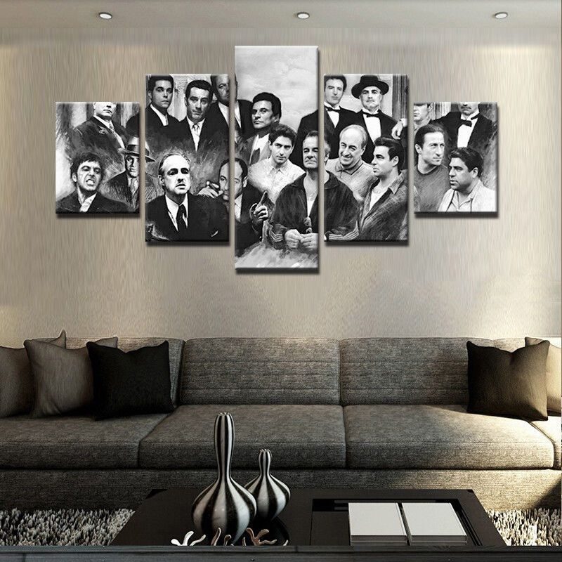 5 Pcs Gangster Movie Painting Print Modern Canvas Wall Art Poster Home Decor Unbranded Modernism Modern Wall Art Canvas Canvas Art Wall Decor Movie Wall Art