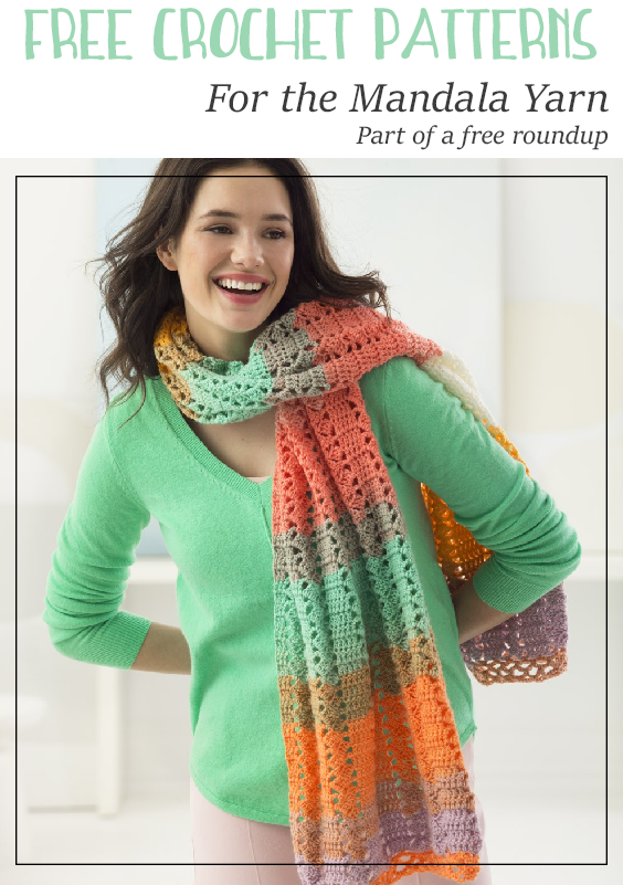Free Crochet Patterns For The Mandala Yarn By Lion Brand Yarns