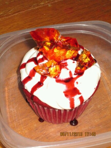 Bloody Glass cupcakes