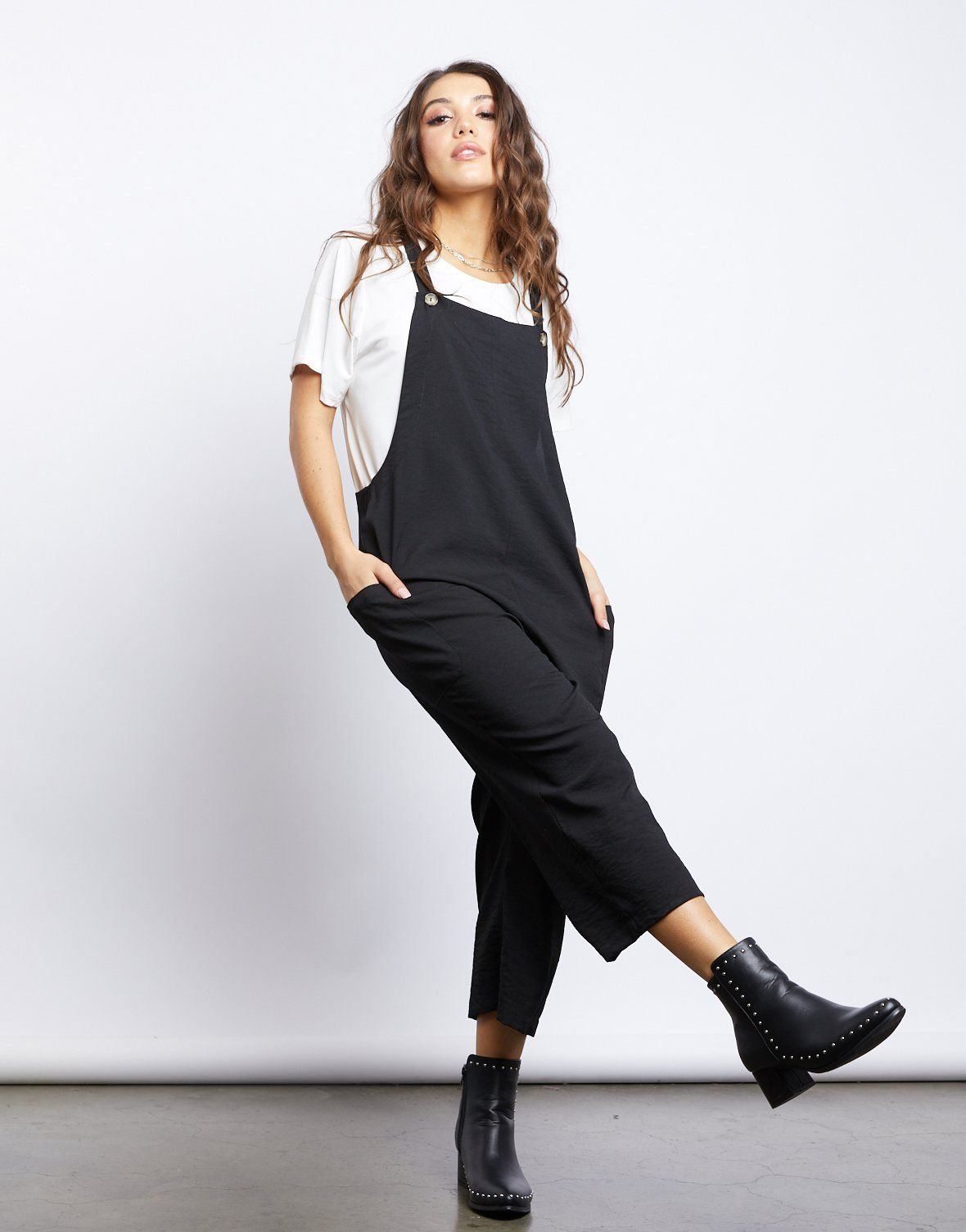 Schools Out Pinafore Jumpsuit | Casual jumpsuit, Fashion