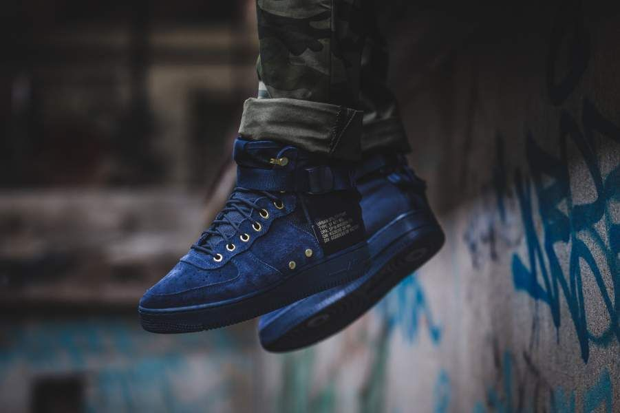 online store e188a 9486e NIKE SF AIR FORCE 1 MID OBSIDIAN  BLACK LIMITED EDITION SNEAKERS ALL SIZES  Nike