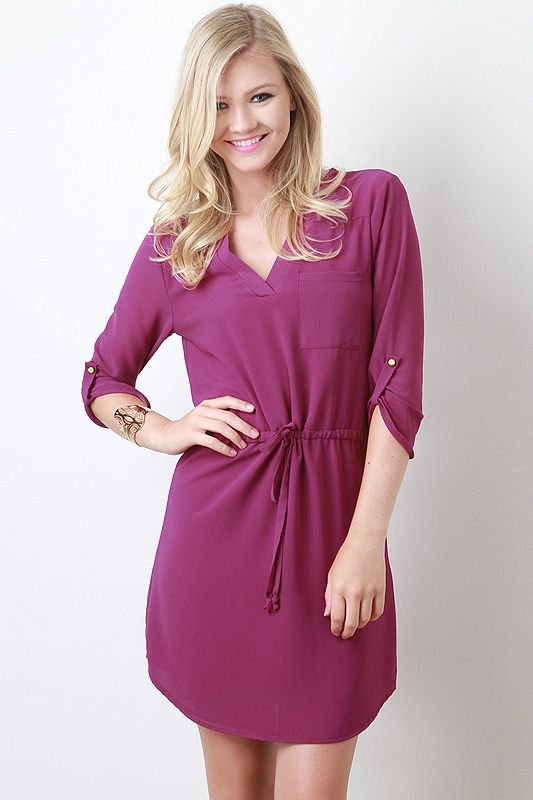 Your fave dress is back in new colors for summer into fall. this purple is just perf!