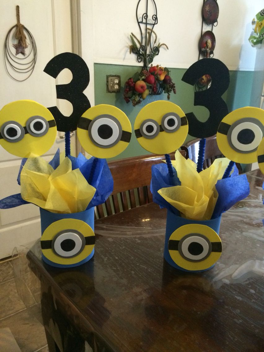 Minions Centerpiece Minion Birthday Party Minion Centerpieces