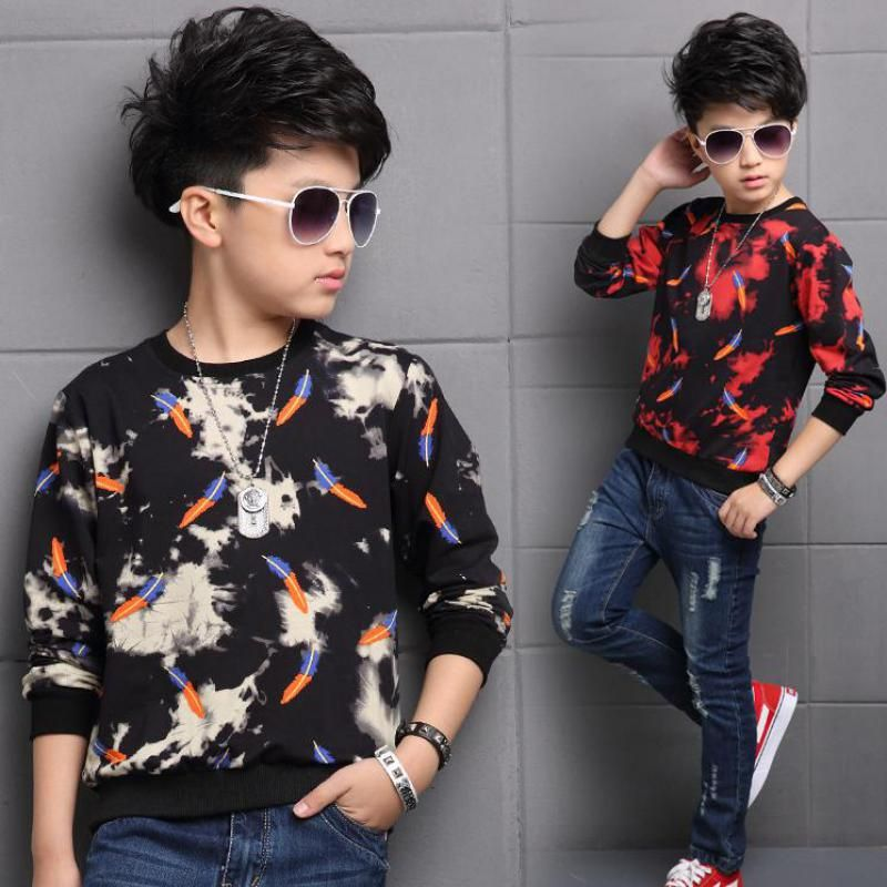 Casual O Neck Children T Shirts Baby Boys Sweatshirts 2017 New Autumn Kids Clothes Male Children Clothing Enfant Kids Outfits Childrens Hoodie Sleeves Clothing