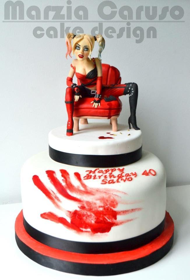Batman Joker Harley Quinn Cake