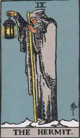 The Hermit Tarot Card and Its Meaning  Prudence, a lonely spiritual quest, treason, caution, inertia.