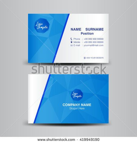 Minimal Corporate Business card vector background,flyer design - name card
