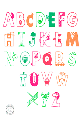 Abecedario En Ingles Para Ninos Para Imprimir Imagenes Y Dibujos Para Imprimir Creative Lettering Abc Font Lettering
