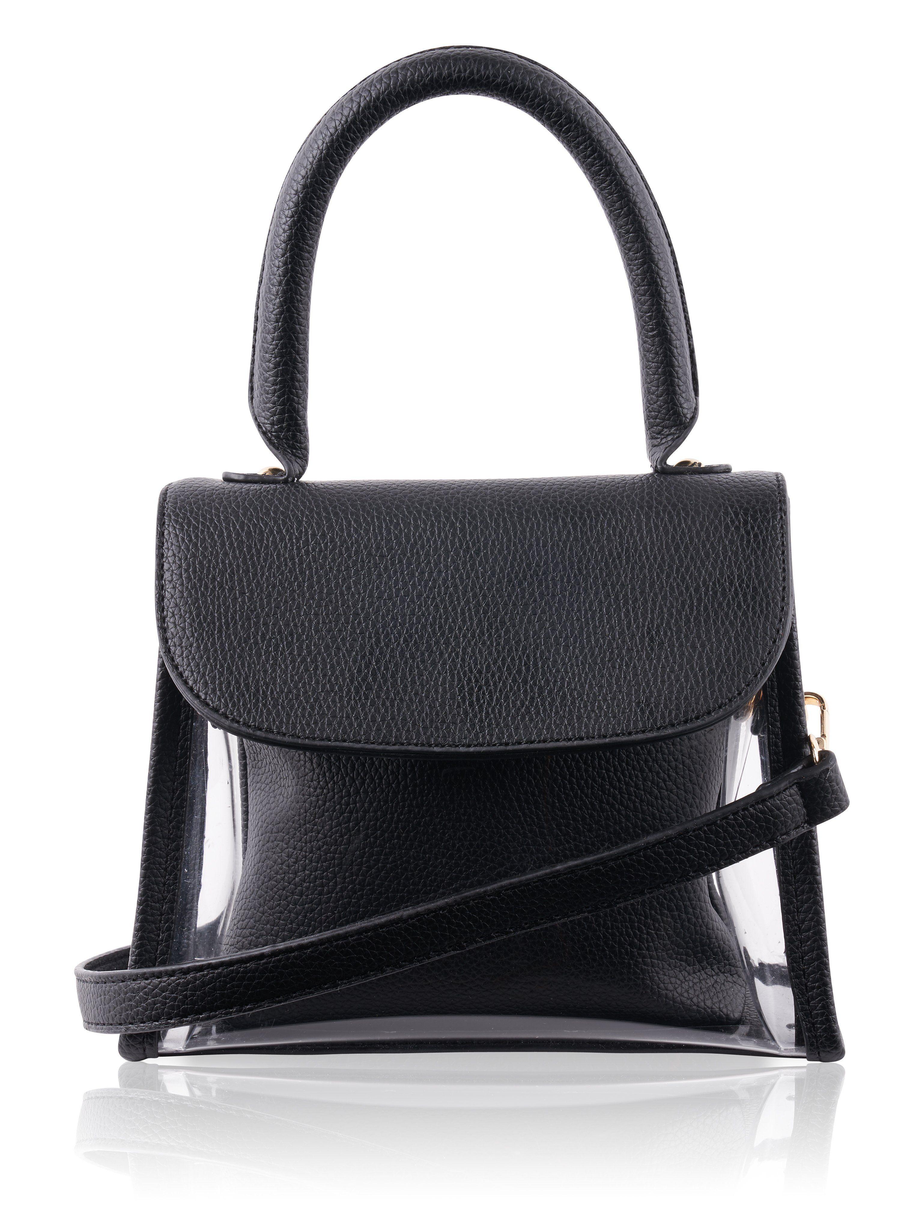 0e8f4f516cd8 Mini PVC Top Handle Bag in Black
