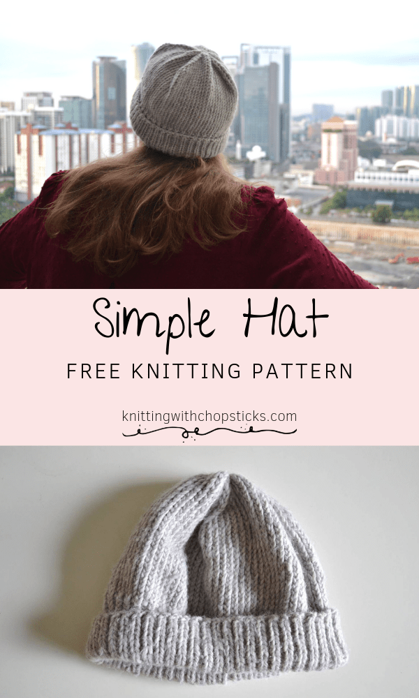 Easy Knit Hat With Double Pointed Needles Pattern Free Simple Hat Knit Hat Pattern Easy Beginner Knitting Patterns Knitted Hats