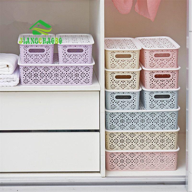Hollow Desktop Underwear Storage Box Drawer Plastic Finishing Box Home  Covered With Bra Underwear Storage Box In Storage Boxes U0026 Bins From Home U0026  Garden On ...