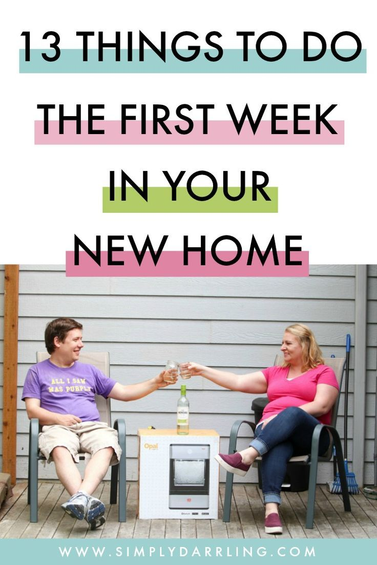 Moving soon? This blogger recently moved and shares 13 things to do the first week in your new home. Look at this checklist before loading up the first box into the moving truck. So much helpful information, and little things that may not be considered.
