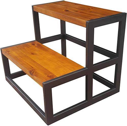 Best Seller Design 59 Acacia Hardwood Step Stool Bed Steps 400 x 300