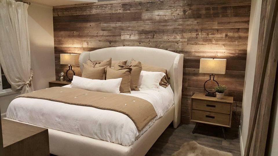 chambre coucher champtre revetement style bois de grange couleur vanille wwwfacebookcom - Decor De Chambre A Coucher Champetre