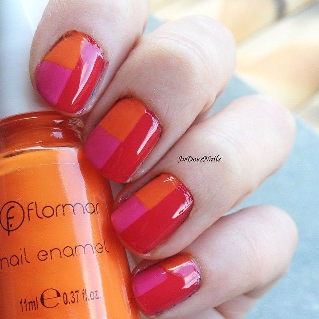 "@judoesnails's photo: ""¿Qué os parece la combinación de colores?/ Do you like the colour combo? (Link in bio) #flormar #instanails #fashionnails #notd #nailsoftheday #mani #nailpolish #nailsofinstagram #nailsdone #lovemanicure #manicure #manicura #uñas #nailsaddict #beautiful #nails #nail #nailswag #unhas #fashion #beauty"""