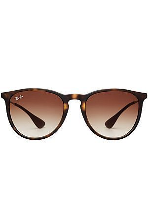 6beb37afb7ad4 Ray-ban s sleek  Erica  silhouette is a future classic, complete with a  tortoiseshell printed frame and flattering brown lenses  Stylebop