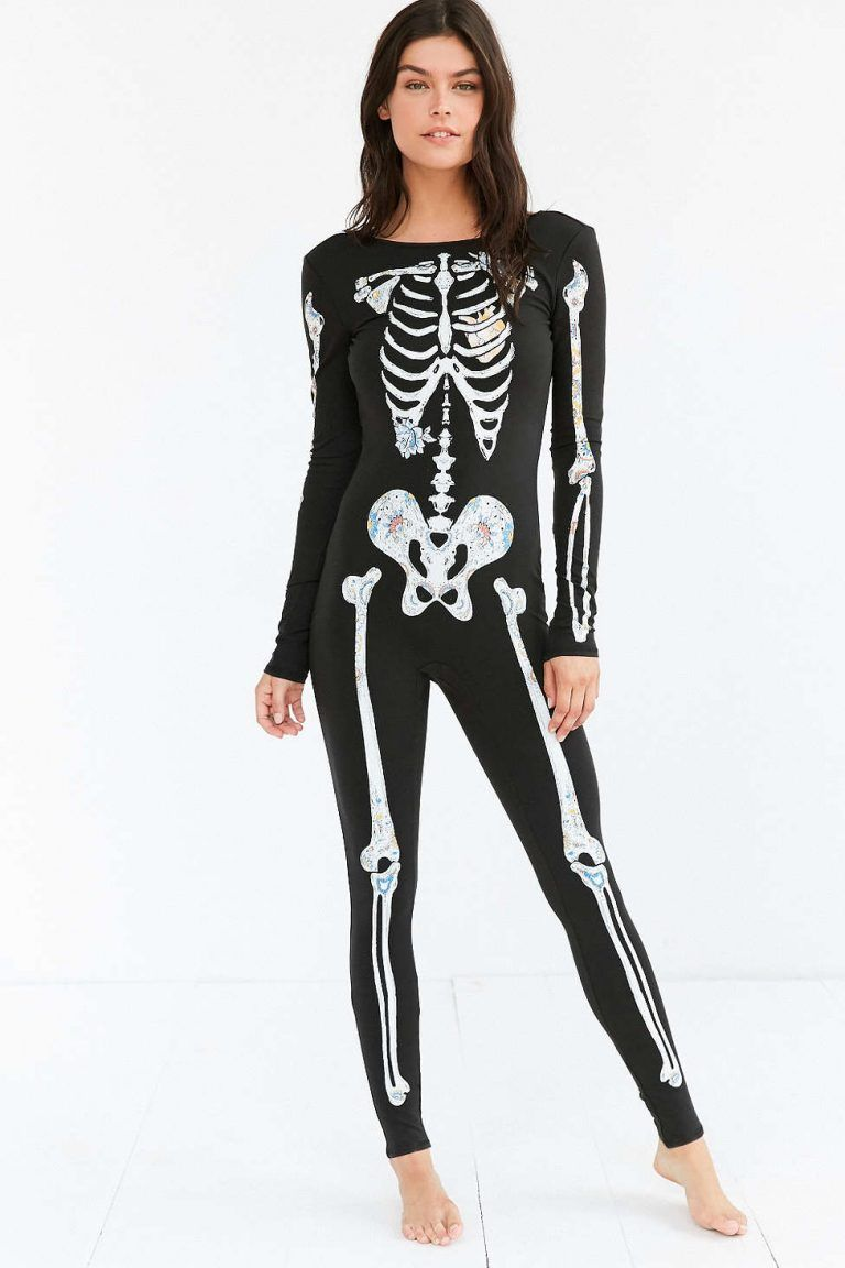 Love this skeleton catsuit!