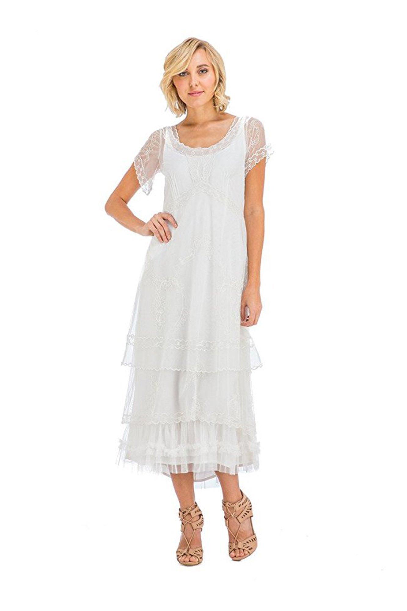 Antique cream wedding dress  Nataya CL Arrianna Vintage Style Wedding Dress in Ivory  Maybe