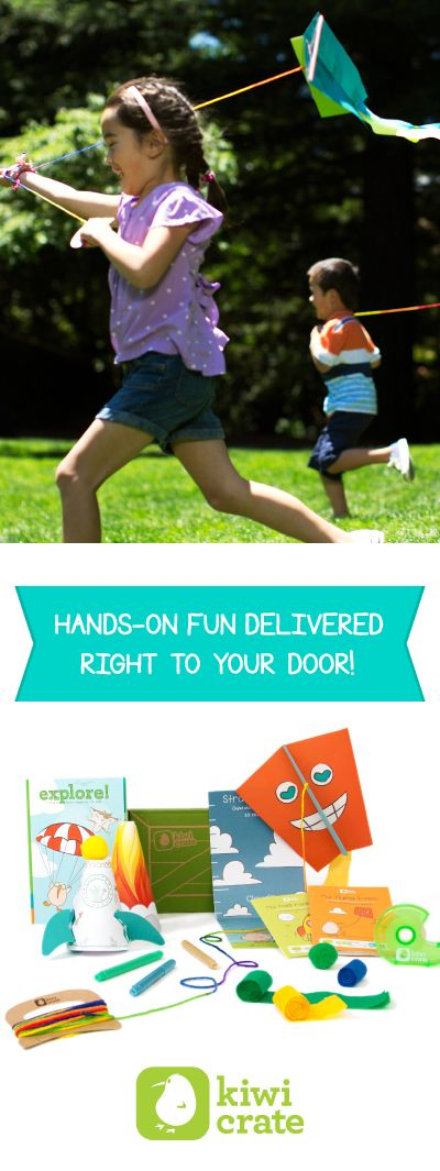 Help your kids' creativity take flight with fun hands-on projects from Kiwi Crate!