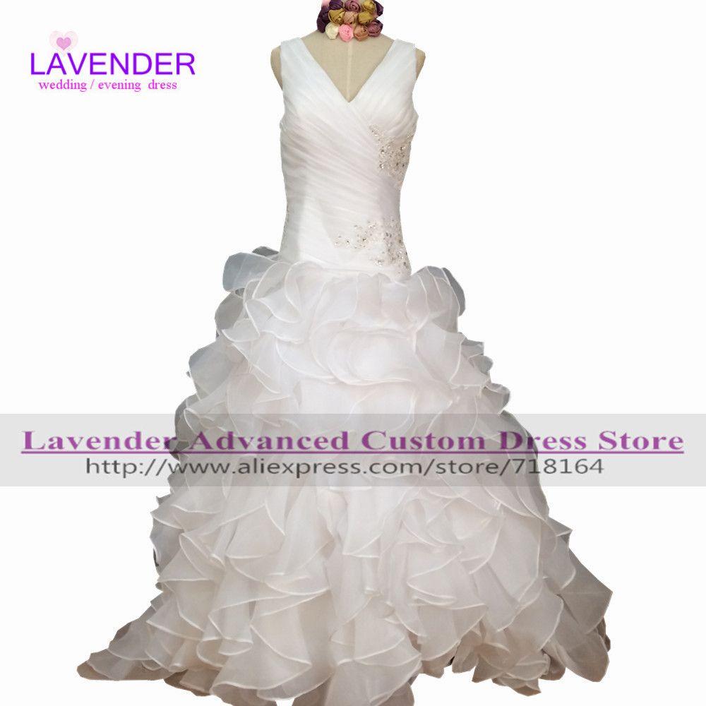 White ivory organza ball gown real picture wedding dress plus size bridal dresses vestido de novia fotos reales robe de mariage