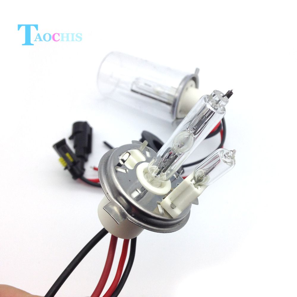 H4 Xenon Super White 100w Dipped Beam 12v Headlight Headlamp Bulbs Hid Light X 2